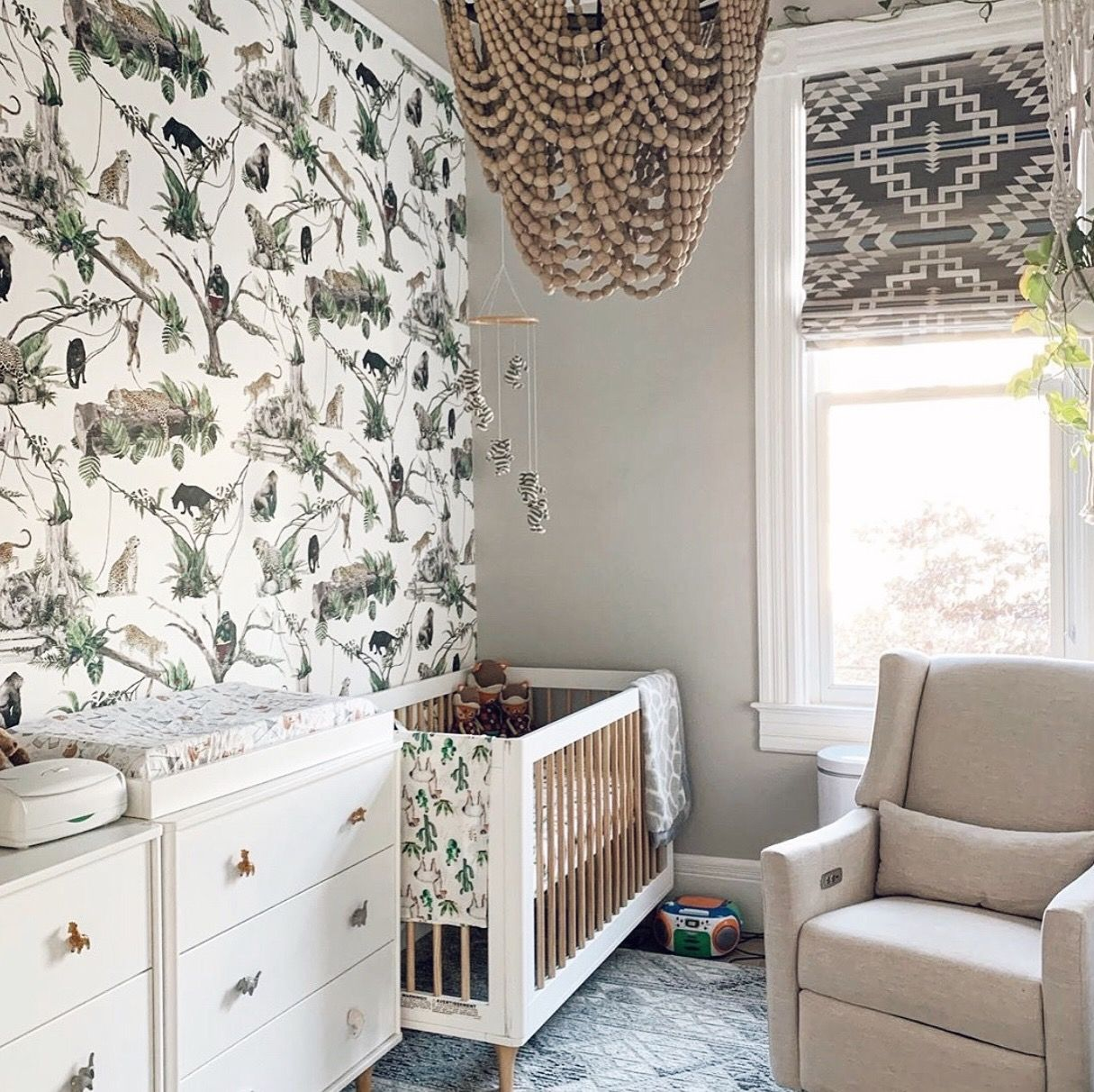 Jungle Massive Wallpaper White in 2020 Jungle theme