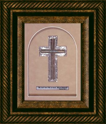 Risen Cross Shadow Box