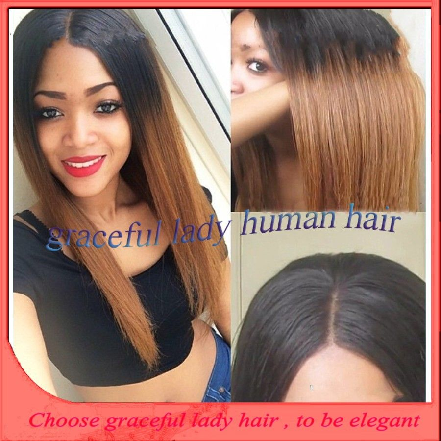 find more wigs information about new designed two tone ombre color