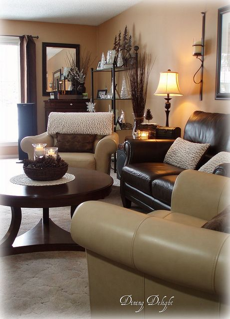 Winter Living Room In White Brown And Cream Winter Living Room Warm Living Room Decor Brown Living Room