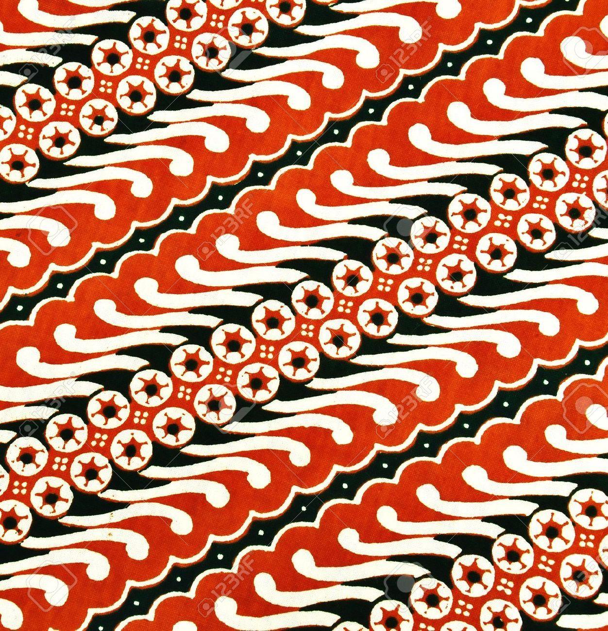 Beautiful Fabric Pattern Called Javanese Batik