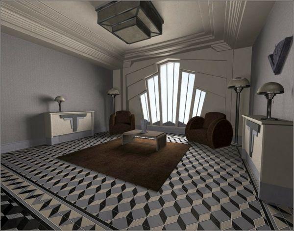 l 39 art d co architecture et la maison cubiste art deco interiors hoovers and. Black Bedroom Furniture Sets. Home Design Ideas