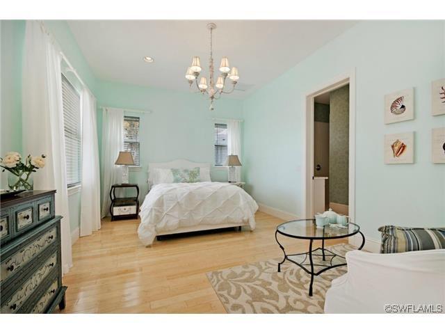 Seafoam green guest bedroom - coastal - restful. Vanderbilt Beach in