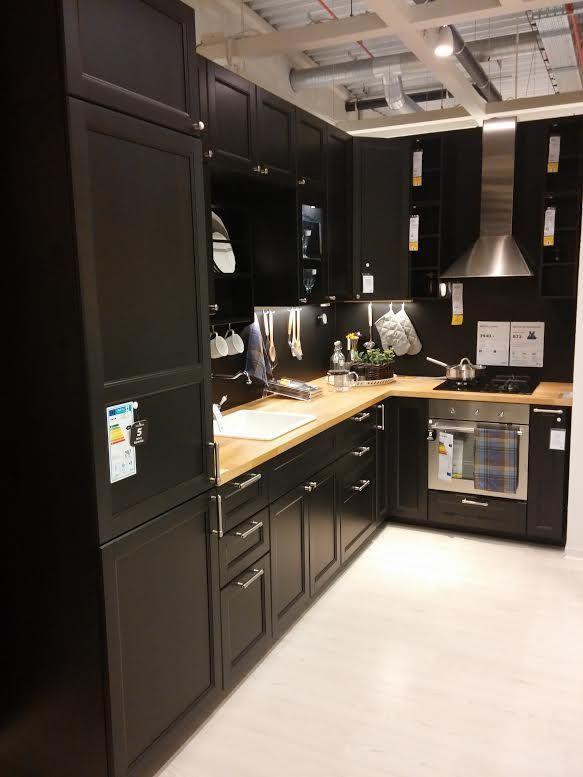 Cuisine noire laxarby ikea 29 messages - Ikea cuisine range bouteille ...