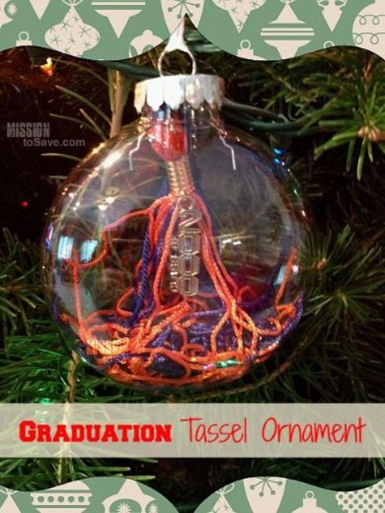 Easy Diy Graduation Tassel Ornament Graduation Diy Graduation Tassel Ornament Christmas Ornaments To Make
