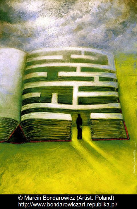 © Marcin BONDAROWICZ (Artist, Poland) via his website ... The start of an a-maze-ing book? - pfb :-)   ... Give credit where due. Acknowledge the artist by name here in the caption. Check links before repinning. Pin or edit repin so to link to the Primary Source (the original online post). Promote blogs & other secondary sources here in the caption.