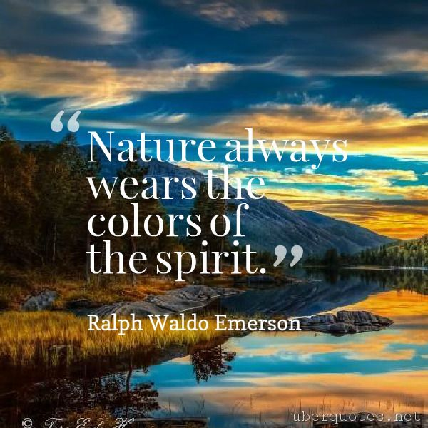 emerson nature quotes for essay A collection of quotes attributed to american essayist ralph waldo emerson.