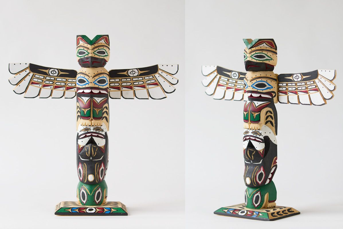 Frogs On Totem Poles