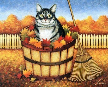 By Lowell Herrero Desktop Nexus Wallpapers Cat Painting Animal Art Art