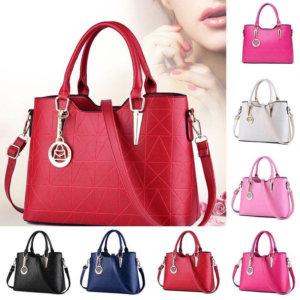 Women Leather Handbag Shoulder Bag Messenger Hobo Bag Satchel Tote  Crossbody Bag. Luxury HandbagsFashion ... 8d6f014474617