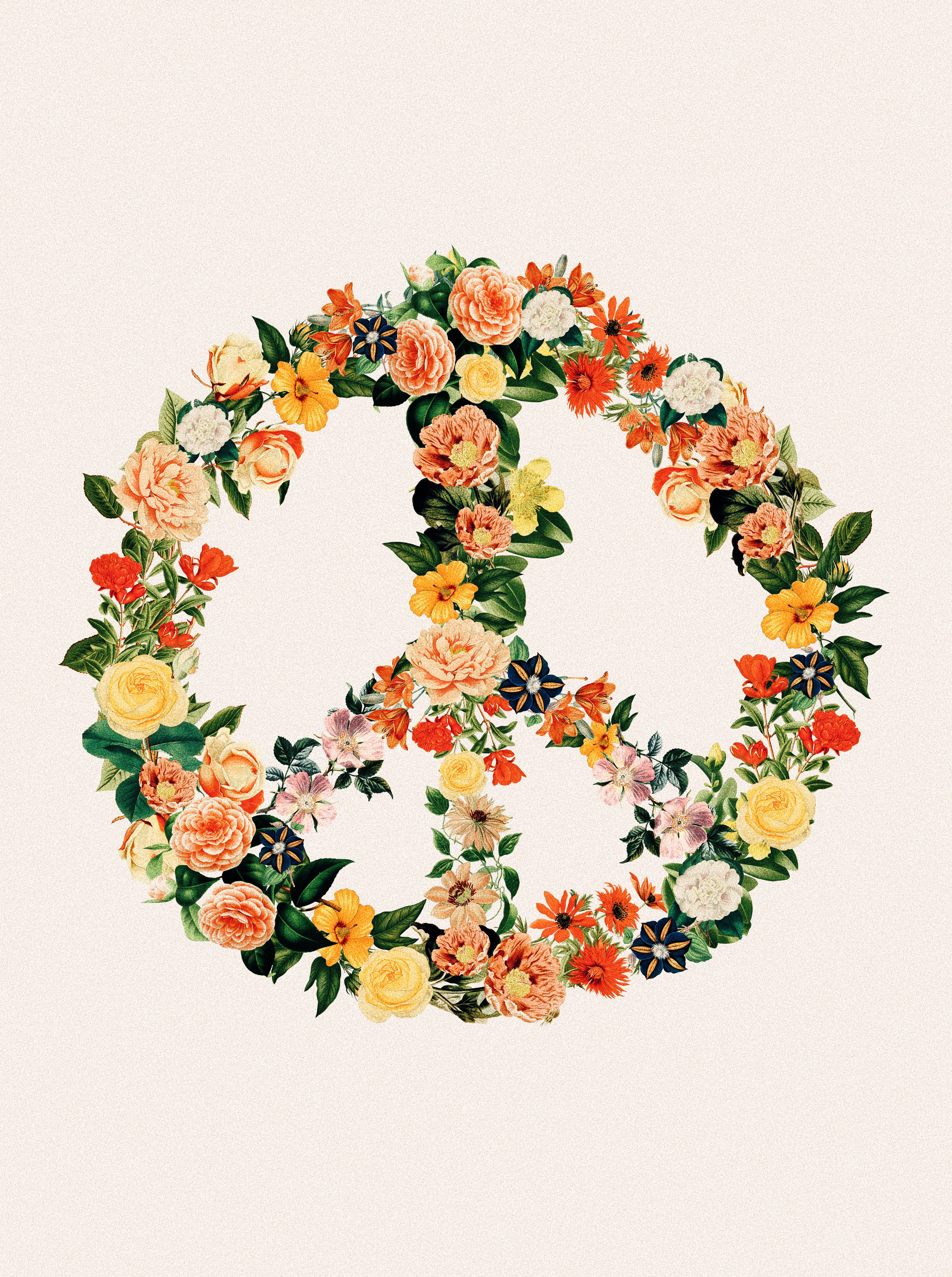 Vintage Floral Peace Sign Tapestry Tapestry Roomdecor Vintage Flowers Hippie Art Peace Sign Peace Sign Tattoos