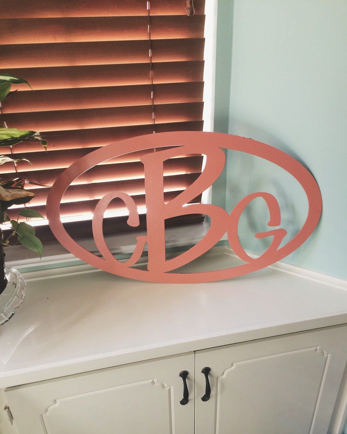 Metal Initials Prepossessing Custom Metal Monogram Wall Hanging Art  Custom Metal Initial Design Inspiration