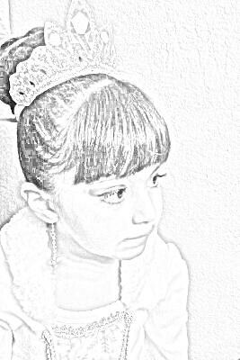Hermoso dibujo de una princesa