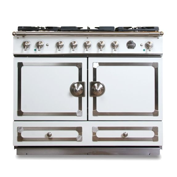 La Cornue Cornuf 233 Stove Ivory White With Chrome La Cornue Retro Appliances Kitchen