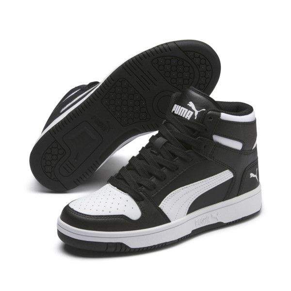 PUMA Rebound LayUp Mid Sneakers JR   PUMA US   Mode enfant noir ...