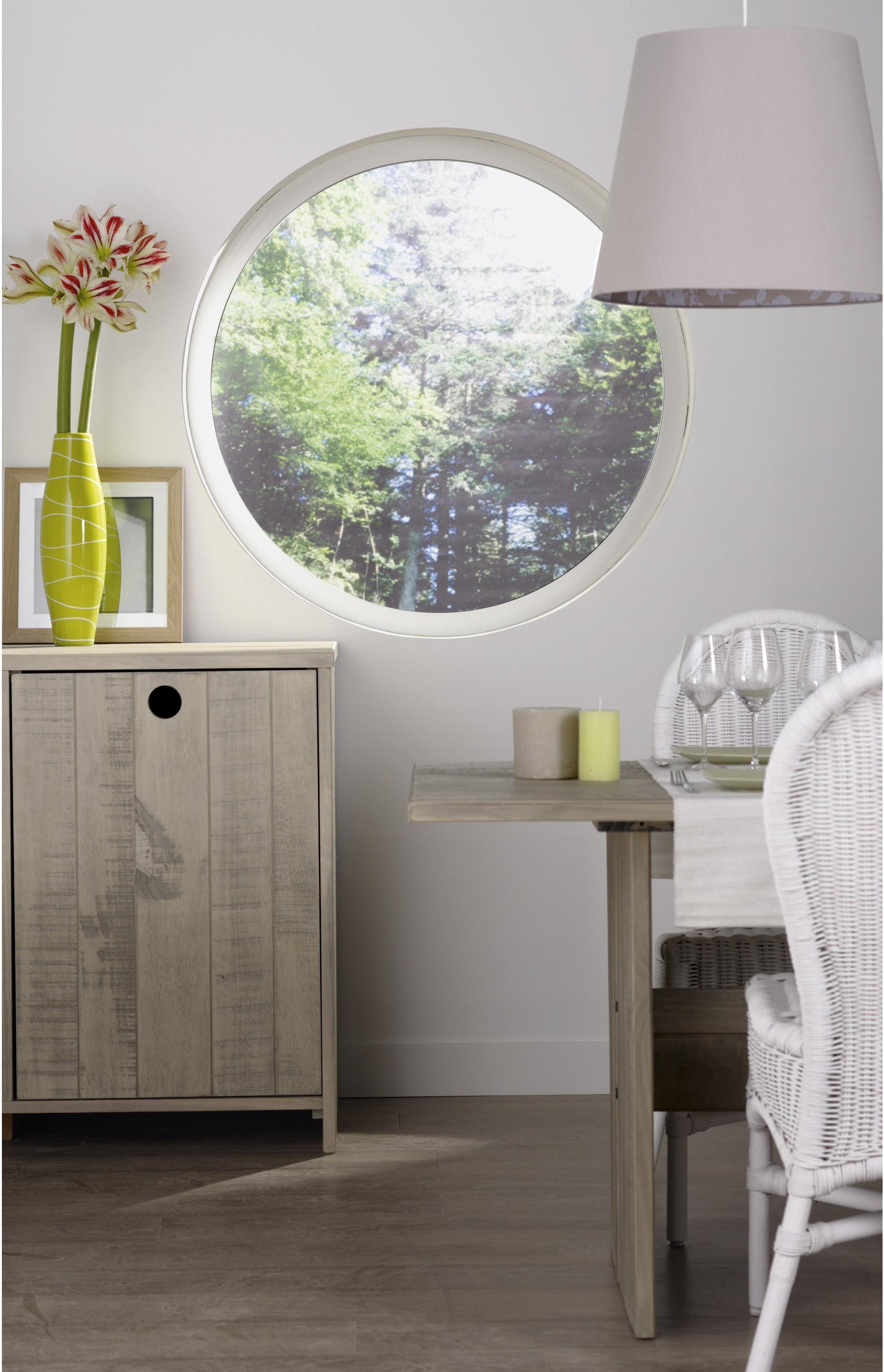 Fenetre Rond Aluminium H 120 X L 120 Cm Blanc 1 Vantail Fixe Sans Ouverture Home Decor Basement Decor Entryway Tables