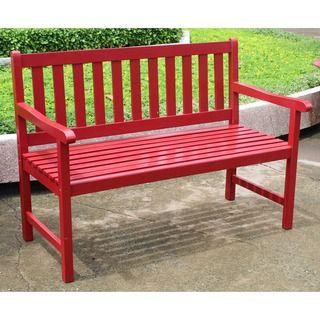 International Caravan Highland 4 Foot Bench Outdoor Garden Bench Outdoor Garden Furniture Small Garden Bench