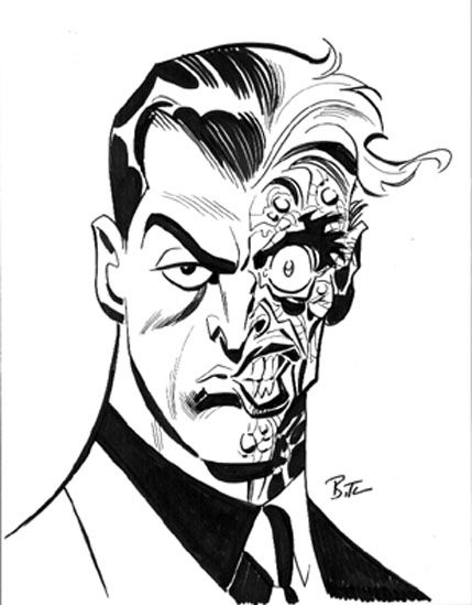 Two-Face by Bruce Timm | Comics, Toys, Gaming and all things Geeky ...
