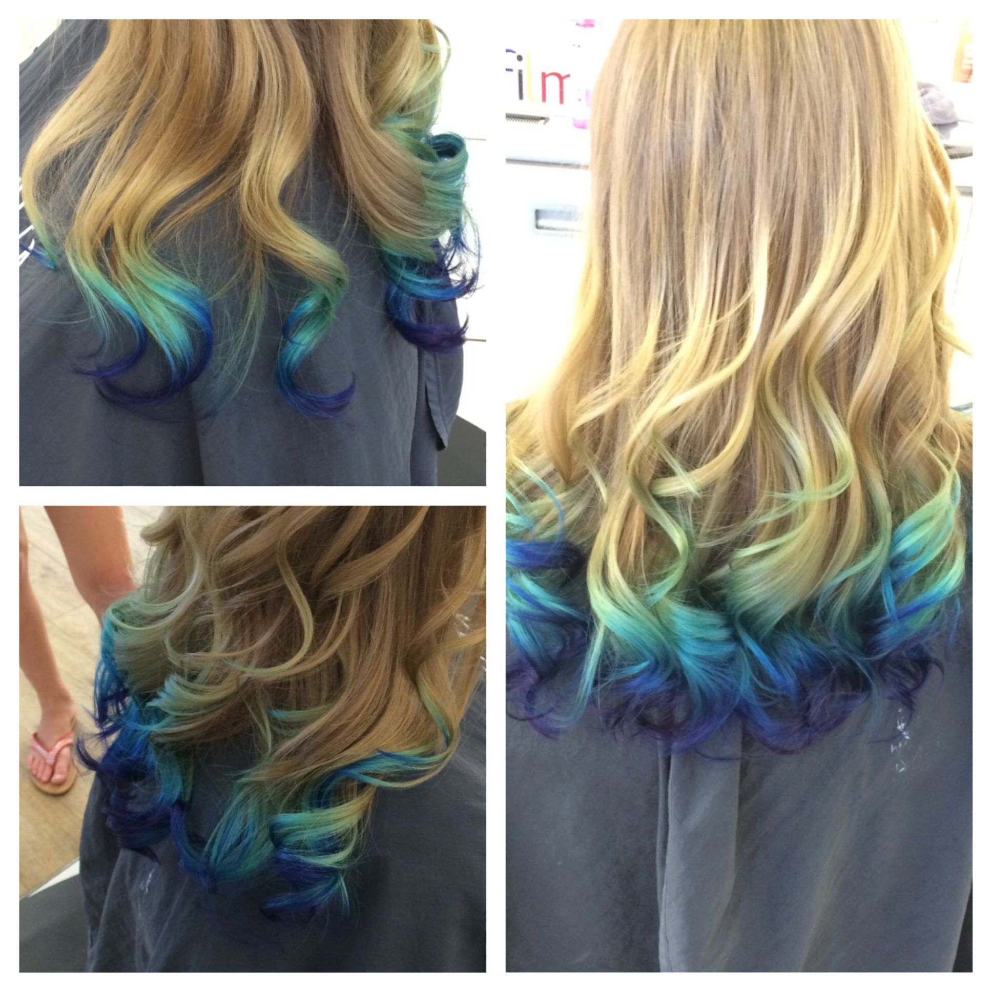 Mermaid Ombre Favorite Color I Ve Done To Date Blue Tips Hair