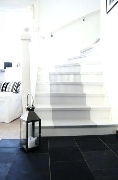 peindre un escalier en bois avec la peinture racnovation. Black Bedroom Furniture Sets. Home Design Ideas