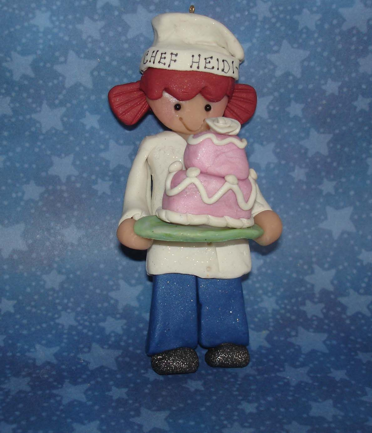 Chef Baker Cake Topper Sous Hat Apron Decorated Tier Wedding Choco ...
