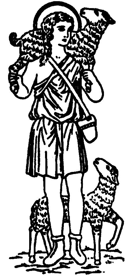 Good Shepherd Line Drawing Clipart Best