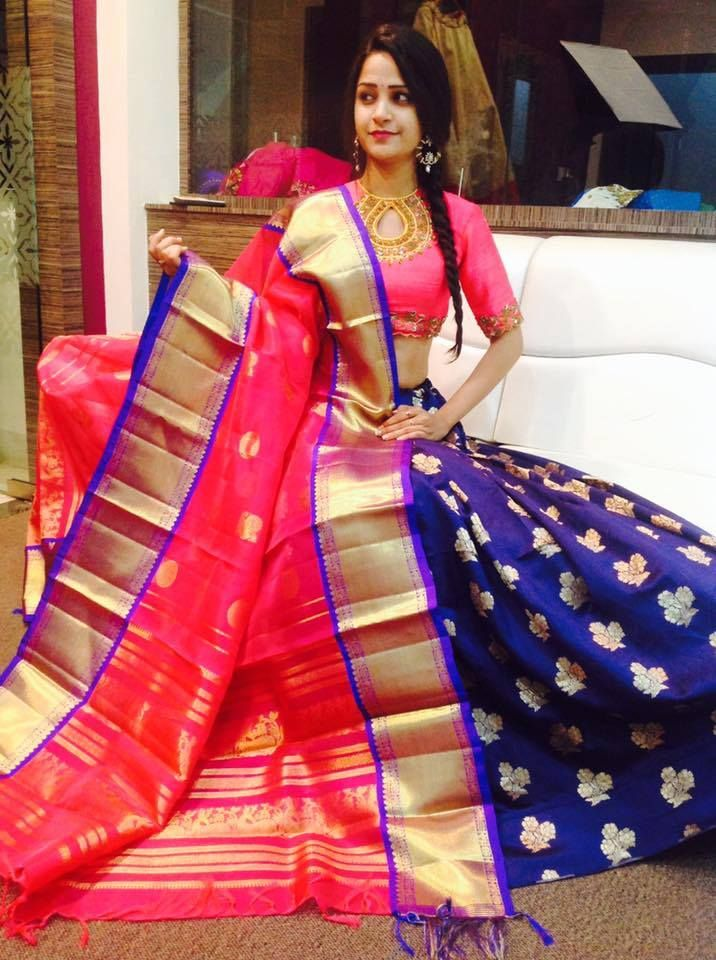 Kanchi Pattu Dupattas The Trend Team Up With Pure Beneras Lehengas We Are Taking Orders For