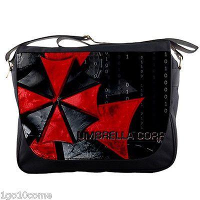 "Umbrella Corp Resident Evil Messenger Bag 14"" Textbook Notebook School Sling   eBay"