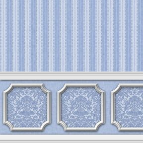 Dollhouse Peel Stick Miniature Wallpaper Damask Stripe Blue Etsy In 2021 Doll House Wallpaper Wainscoting Doll House