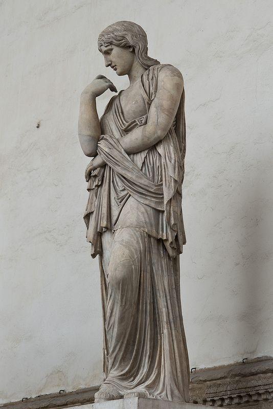 Thusnelda - a barbarian prisoner, Roman statue (marble), heavily restored, 2nd century AD, (Loggia dei Lanzi, Florence).