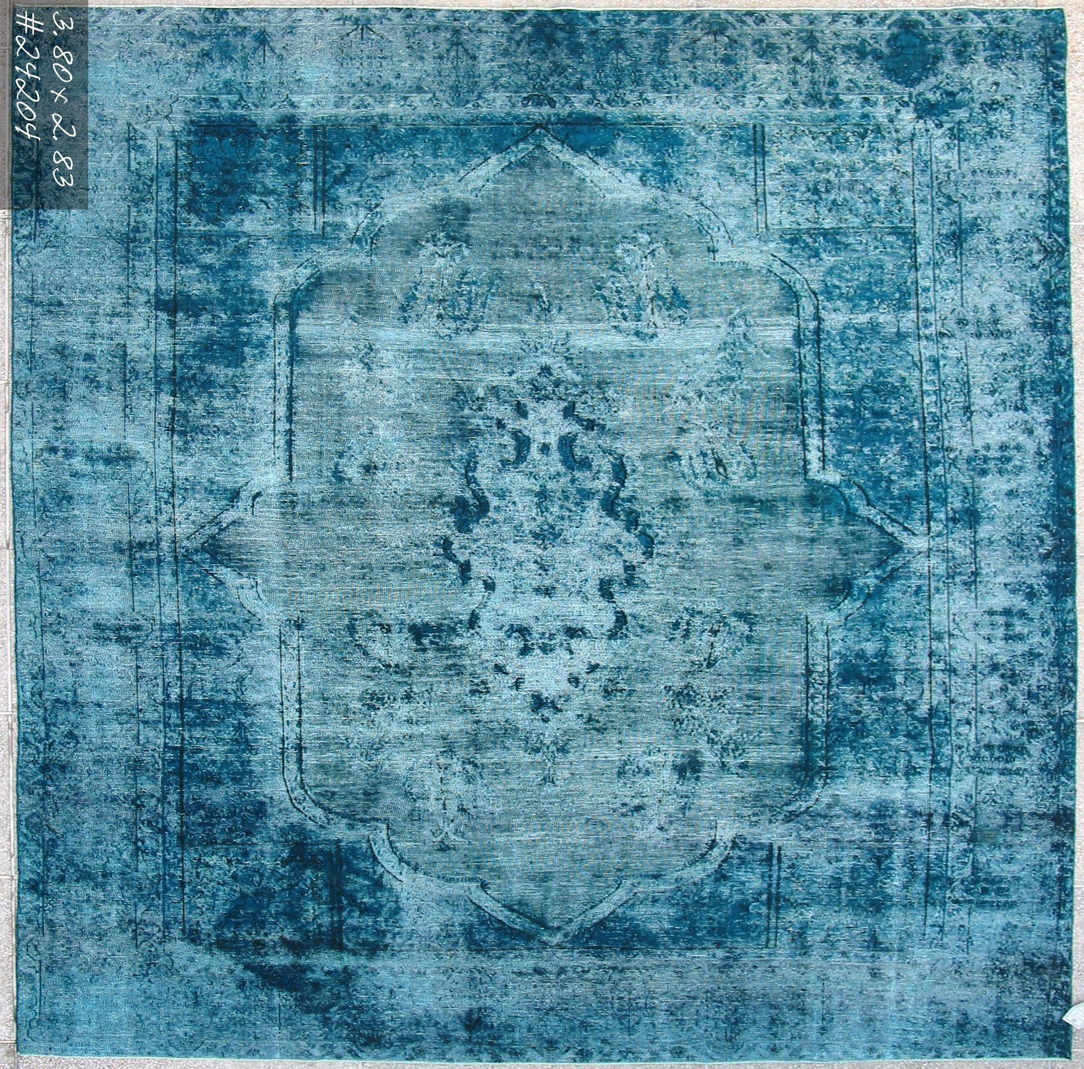 Over Dyed Vintage Persian Rug