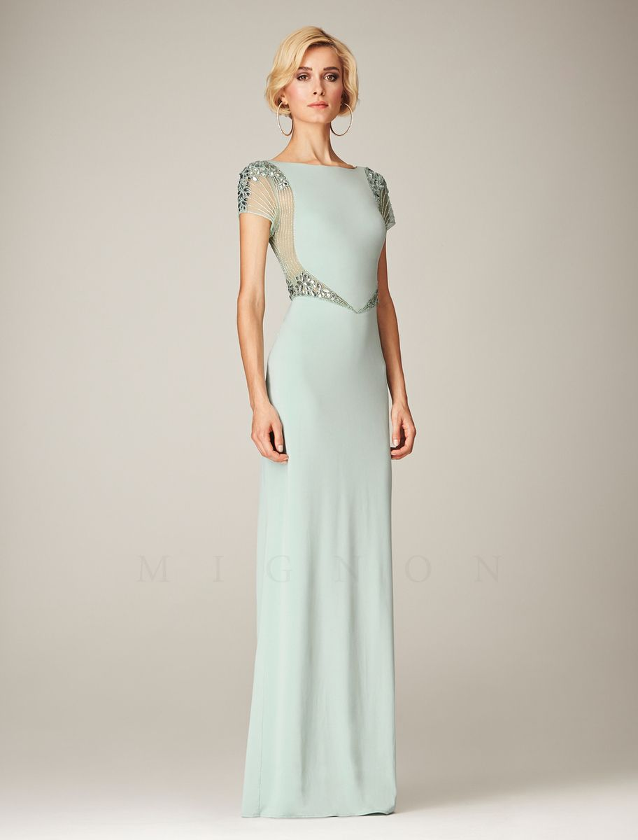 Fashionably yours alana floor length dress in mint