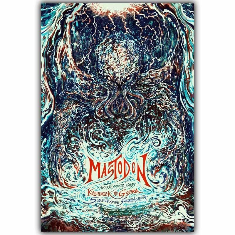 Psychedelic Trippy Rock Music Abstract Print Art Silk Poster