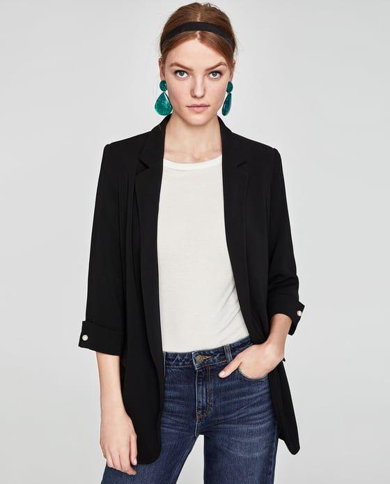 Zara Robes Image 2 Longue Veste Fluide Longue De qwXYawz