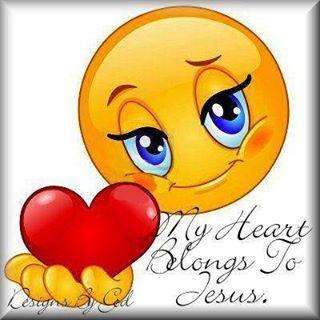 My Heart Belongs To You Jesus My Children Quotes Emoji Love Happy Smiley Face
