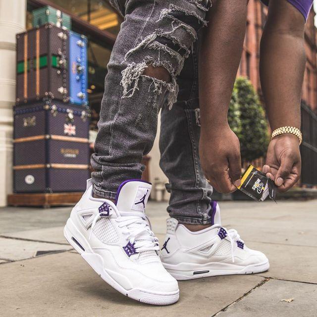 Nike Air Jordan 4 Retro Purple/White en 2021   Tenue nike ...