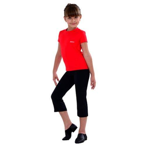 0063aa164 SoDanca Little Girls Size 4 6 Black Capri Pants Dancewear Leggings ...