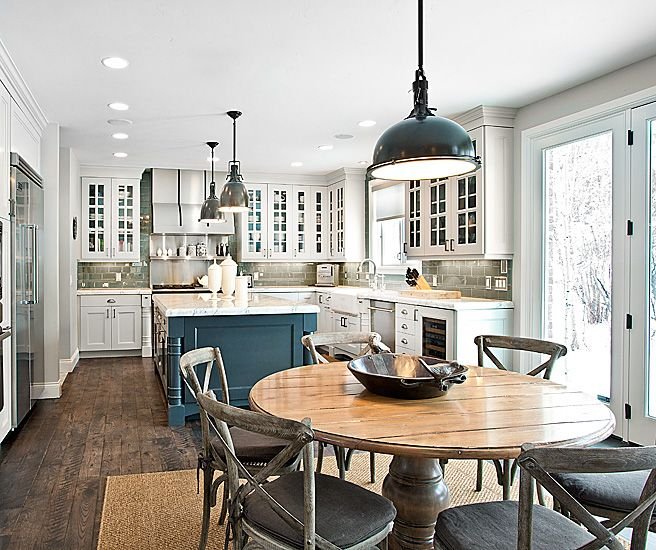 Gentil Jaffa Group   Kitchens   Restoration Hardware Benson Pendant, Restoration  Hardware Harmon Pendant, White And Gray Kitchen, Glass Subway Tile.