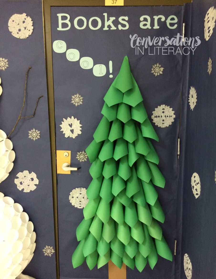Christmas Tree From Rolled Paper In 2020 Paper Christmas Decorations Paper Tree Classroom Classroom Christmas Decorations