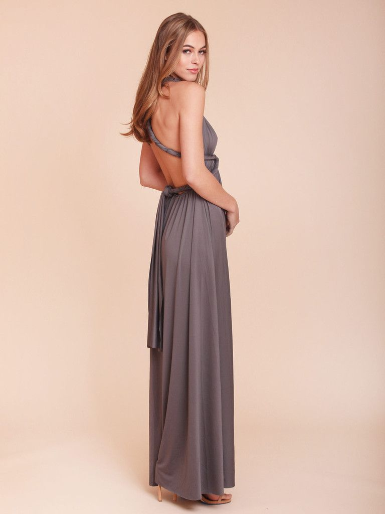 Amabelle charcoal convertible dress maxi knee length ombrellifo Images