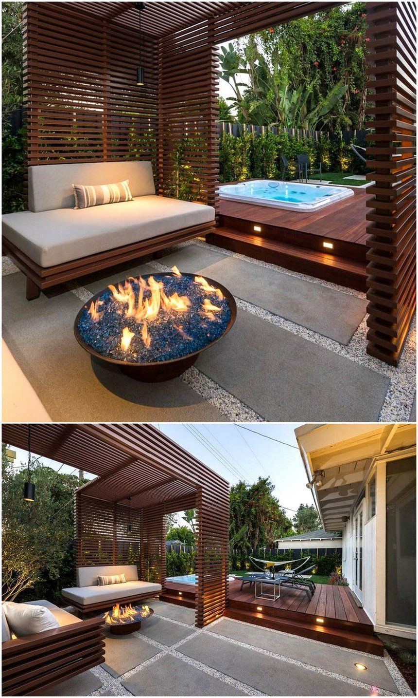 let u2019s have a wonderful romantic time at the dashing styling of this pergola deck idea  show your