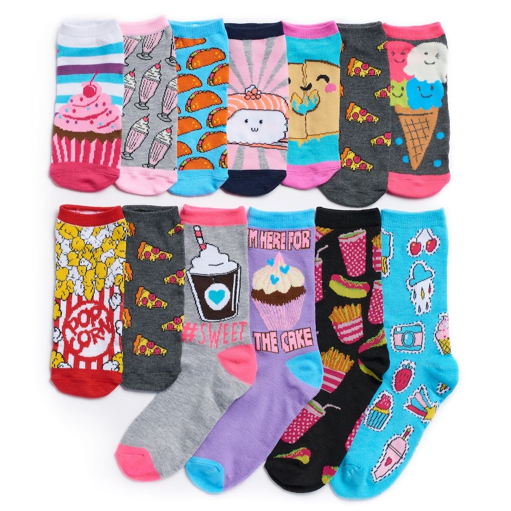 Girls 4 16 Pink Cookie 12 Days Of Socks Advent Calendar Socks Advent Calendar Pink Cookies Calendar Girls