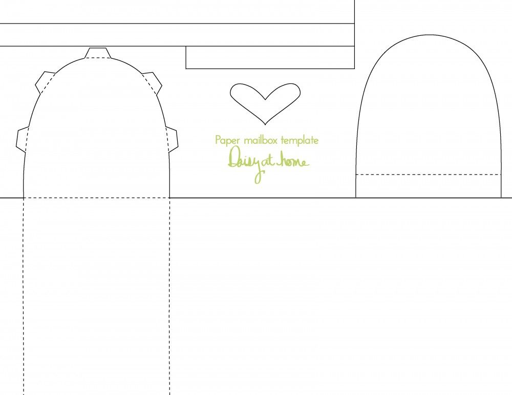 Paper Mailbox Template from Daisy at Home Templates Pinterest - white paper templates