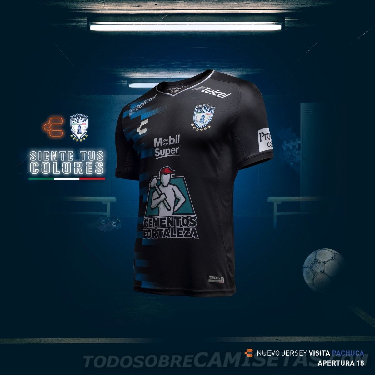 0931ef452 Jerseys Charly Futbol de Pachuca 2018-19