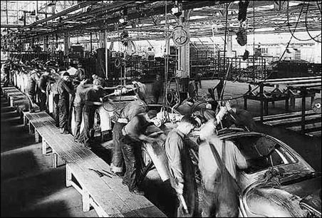 Detroit Auto Workers Old American Cars Ford Industrial Revolution