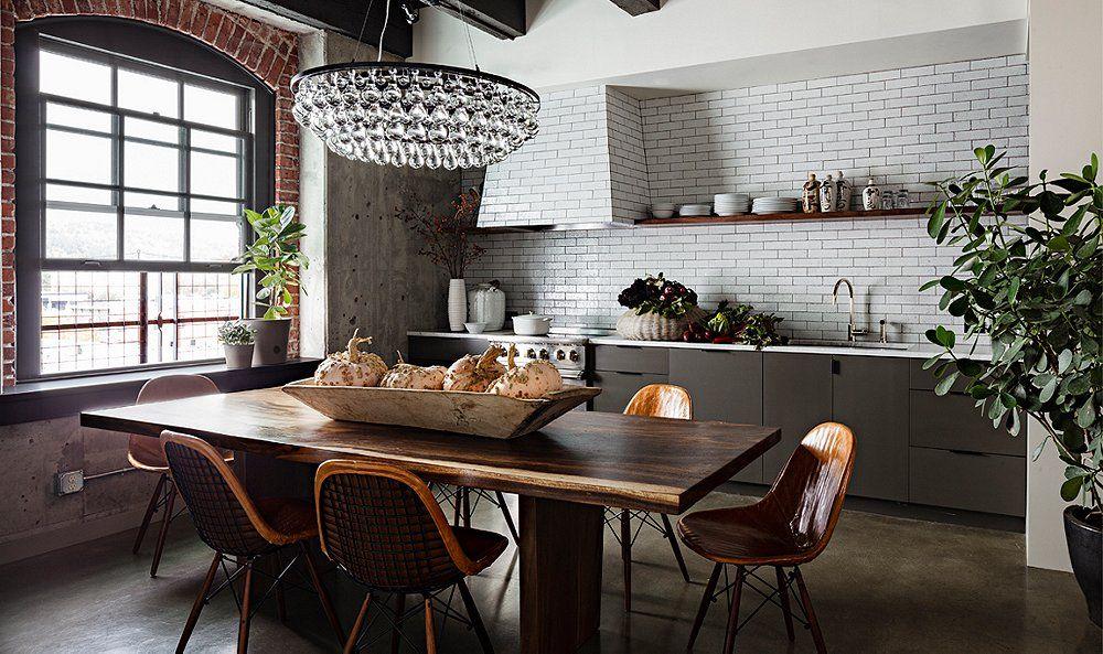 Room Crush Industrial Glam Kitchen Loft Kitchen Open Plan Kitchen Kitchen Interior