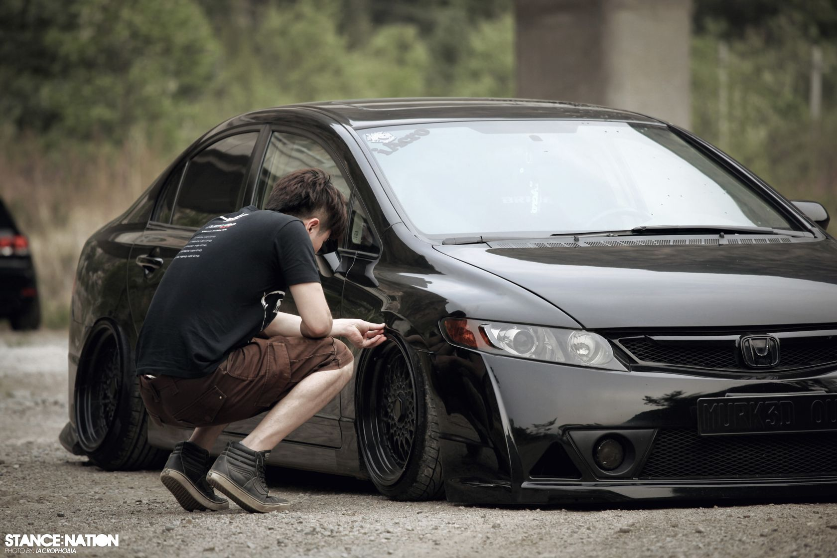 Stanced Flush Honda Civic Sedan 6