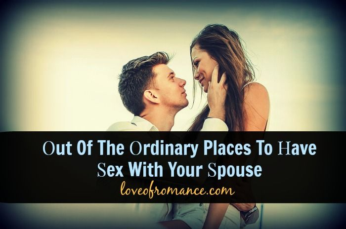 Sex out of the ordinary