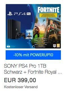 Sony Playstation 4 Pro 1tb Schwarz Fortnite Royal Bomber Pack Voucher Playstation Sony Und Elektroniken