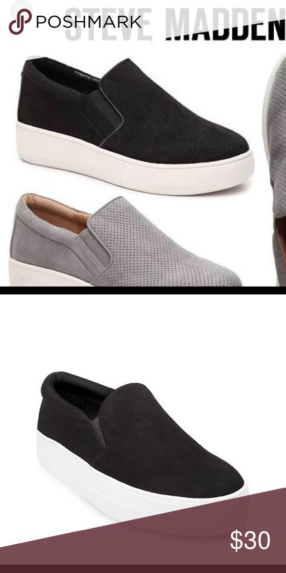 5cece8bc978 Steve Madden Genette platform slide sneaker Worn 4-5 times! Great  condition! Inch and a half platform. Black!! Can post more pictures.